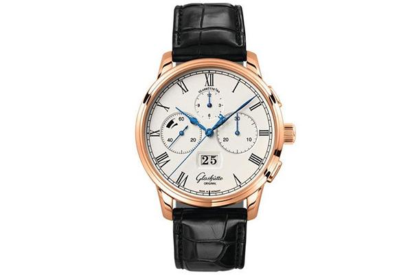 格拉苏蒂原创Senator Chronograph Panorama Date议员大日历计时腕表
