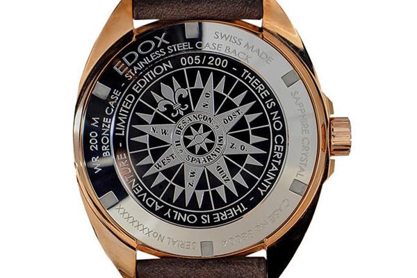 EDOX Delfin Fleet 1650限量纪念腕表表背