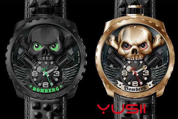 BOMBERG新款的骷髅头设计腕表