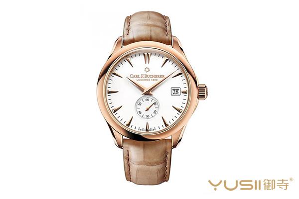 宝齐莱新款玫瑰金马利龙动力手表