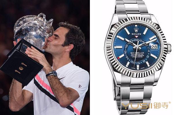 今年的澳大利亚网球公开赛上费德勒佩戴了什么手表