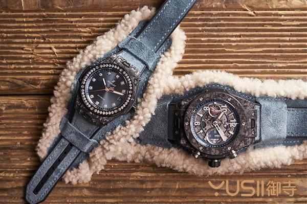 宇舶新款Big Bang Alps碳晶纤维计时码手表