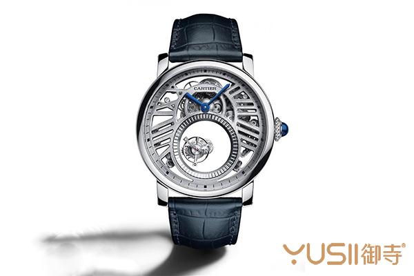 卡地亚新款Rotonde de Cartier镂空双重神秘陀飞轮手表