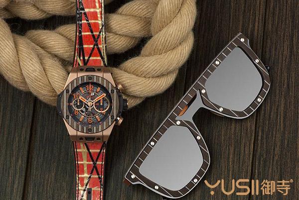 宇舶新款Big Bang Unico Italia Independent手表 以柚木碳纤维做表圈!