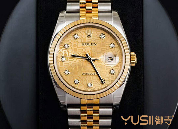 天津二手劳力士全新未使用116233香槟花盘镶钻手表便宜出售